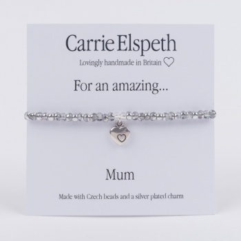 Carrie Elspeth Mum sentiment bracelet