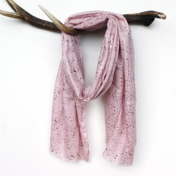 Pom blush pink scarf with rose foil speckles