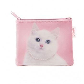 Catseye cat with pearls coin purse
