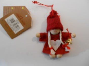 Christmas pixie girl tree decoration