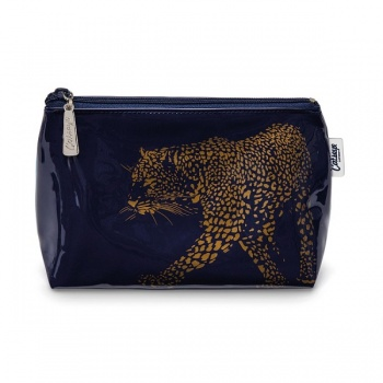 Catseye leopard make up bag