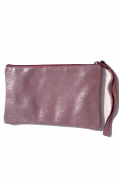 Gabrielle Parker leather zip clutch