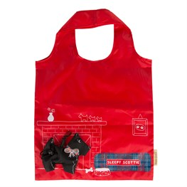 sass and belle scottie dog foldable shopping bag