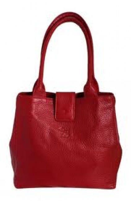 Red Dog red leather handbag
