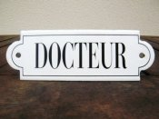 French enamel sign - Docteur