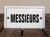 French enamel door sign - Messieurs