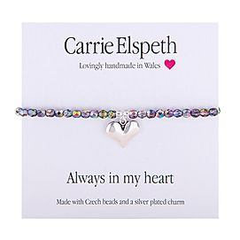 Always In My Heart Sentiment Bracelet
