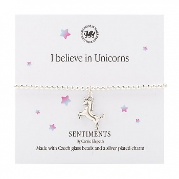 Carrie Elspeth Unicorn Sentiment Bracelet