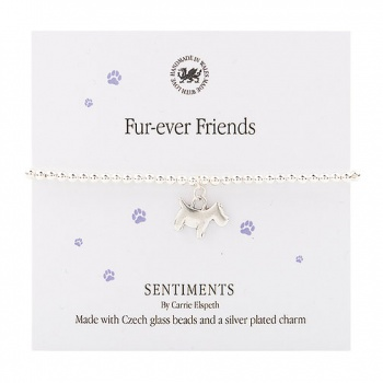 Fur-ever friends sentiment bracelet