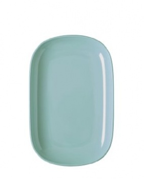 Rice Melamine rectangular blue plate