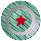 Rice melamine star print bowl