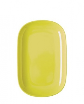 Rice Melamine rectangular yellow plate