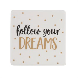 Dreams metallic monochrome coaster