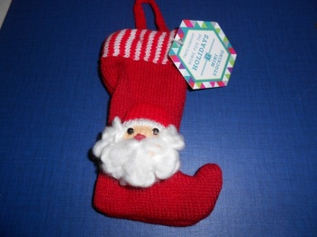 Santa mini stocking hanging decoration