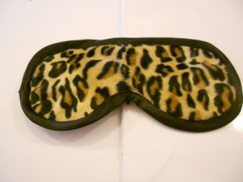 Leopard print sleep mask