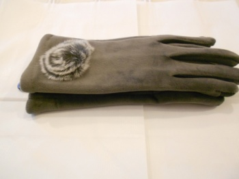 Super Soft Grey Suede Gloves