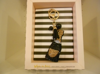 Champagne Bottle Key Ring