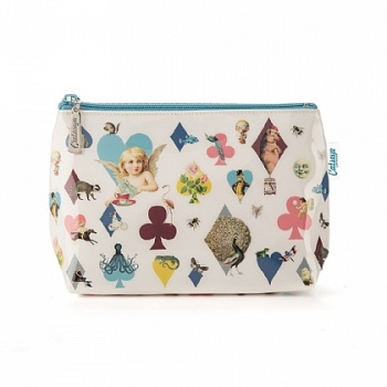Catseye hearts and cherubs make up bag