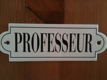 French enamel sign - Professeur