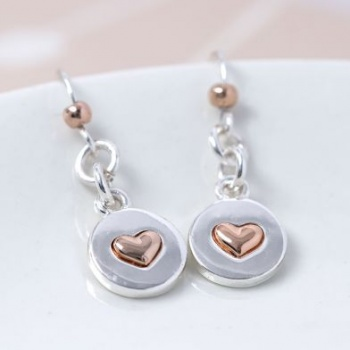 2 Colour Heart Earrings