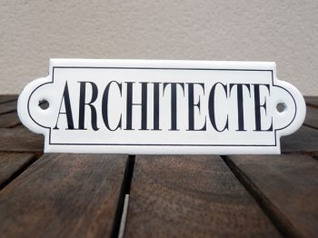 French enamel sign - Architecte