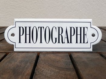 French enamel sign - Photographe