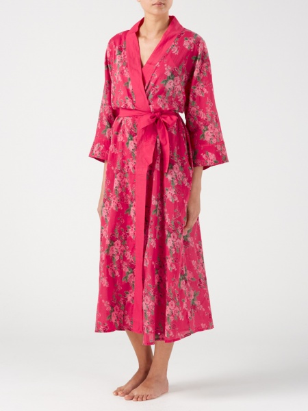 Gabrielle Parker long kimono style dressing gown - Pardon My French ef0916f815b2