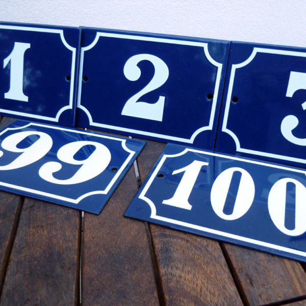 50094296a7d2 French Enamel House Numbers 1-100 - Pardon My French