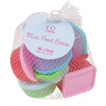 12 mini plastic food boxes