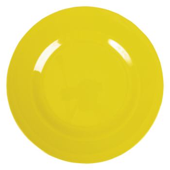 Rice Melamine Yellow Dinner Plate