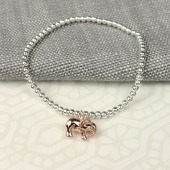 Pom silver plated bracelet with elephant charm