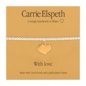 Carrie Elspeth ''With Love'' sentiment bracelet