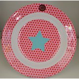 Rice melamine pink star bowl