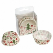Christmas cup cake cases