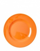 Rice Melamine orange dinner plate