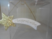 Christmas Wishes glitter star hanging decoration