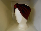 Blue scarf with heart design