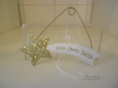 Love From Santa glitter star hanging decoration
