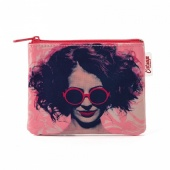 Catseye Girl in glasses coin purse