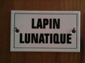 French enamel sign - Lapin Lunatique