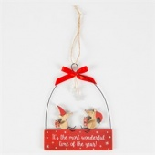 Christmas Mice Hanging Decoration
