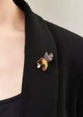 Rosie Fox rainbow hummingbird brooch