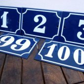 French Enamel House Numbers 1-100