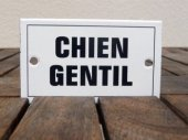 French enamel sign - Chien Gentil