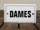 French enamel door sign - Dames