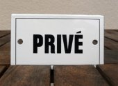 French enamel door sign - Prive