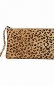 Gabrielle Parker leopard print leather clutch