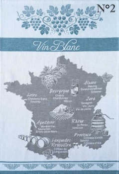 Coucke tea towel-vin blanc